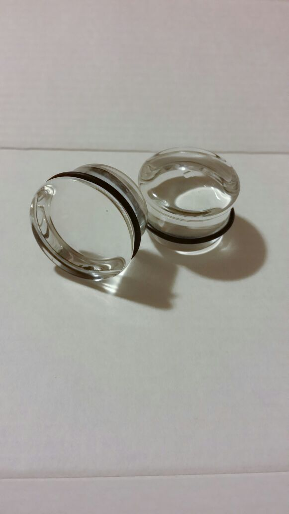 1inch pyrex glass o-ring plugs (Jewelry & Accessories) in Sunnyvale ...
