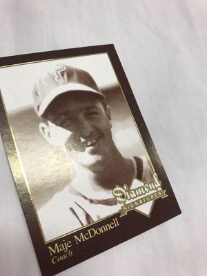 """""""Maje"""" McDonnell Baseball Card Collectable"""
