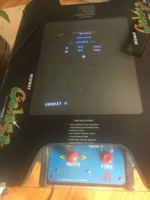 Galaga and Ms. Pac-Man Cocktail arcade game