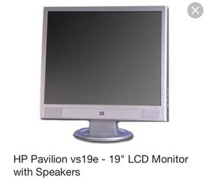 """Hp Pavilion 19"""" LCD Monitor Tv with speakers"""