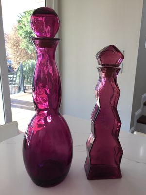 Pair of glass bottles