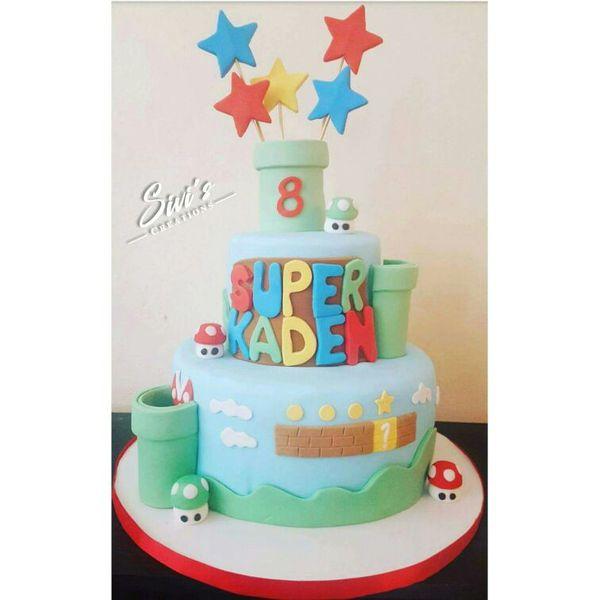 Super Mario Fondant Cake Baby Kids in North Miami Beach FL