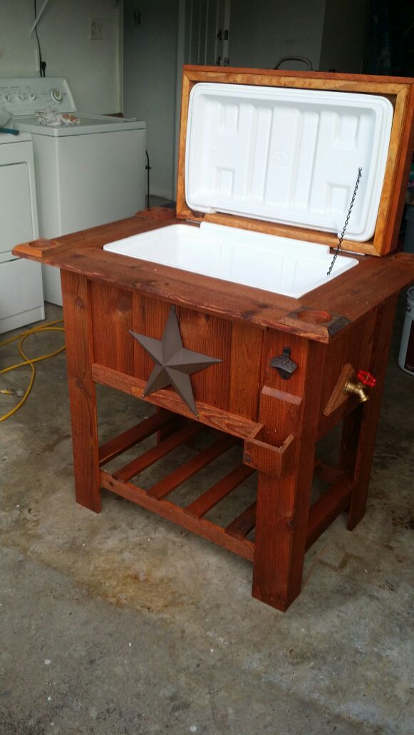 Wooden Ice Chest ~ Ice chest wooden coolers antiques in mesquite tx