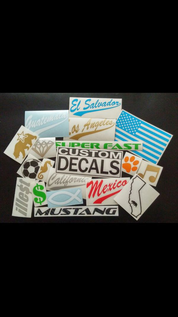 Personalized Custom Made Vinyl Decal Decals Sing Signs Stickers - Custom vinyl decals los angeles