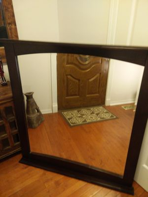 """1 Like new big solid wood frame mirror in very good condition, pet free smoke free, let me know if you like more pictures, cash only L46""""*H41"""""""