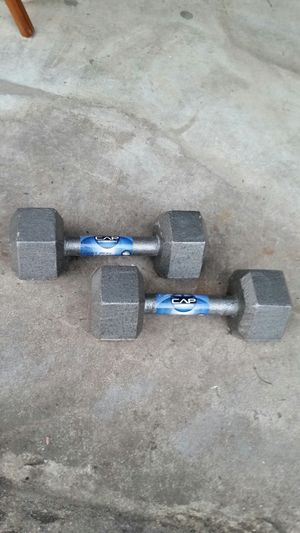 Pair of 15 lb hand weights