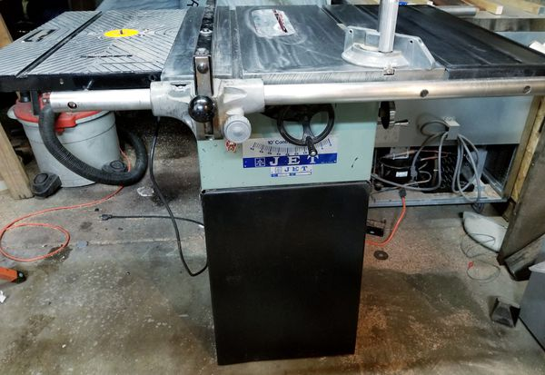 Jet contractor table saw with built in wolfcraft router table tools jet contractor table saw with built in wolfcraft router table tools machinery in federal way wa offerup greentooth Image collections