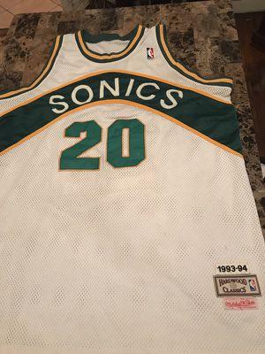 Authentic SeattleSuperSonics GaryPayton20 Jersey