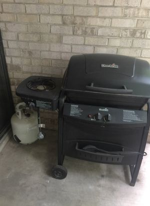 Propane Grill and Propane Tank