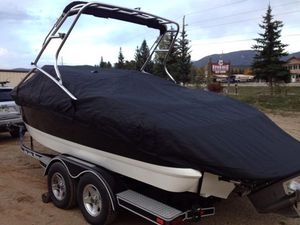 COVER - Shark skin boat cover for Cobolt 24sx with Bimini cutouts
