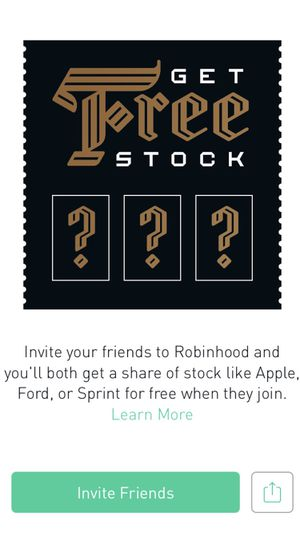 ‪Join @RobinhoodApp and we'll both get a stock like $AAPL, $F, or $S for free. Make sure to use my link.‬ ‪{link removed}‬
