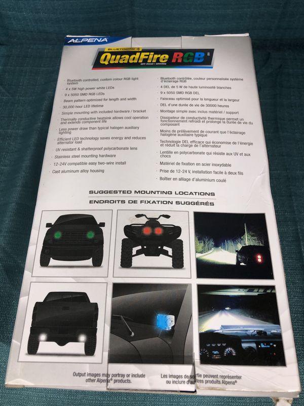 Alpena QuadFire White + RGB Bluetooth LED Strobe Pod Light one Unit ...