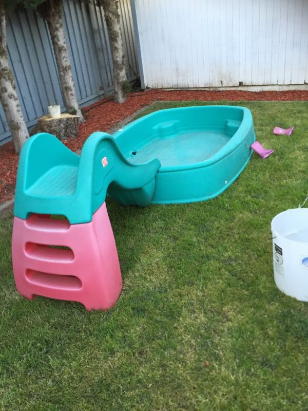 Very Rare Hard Plastic Swimming Pool With The Slide Baby Kids In Union City CA
