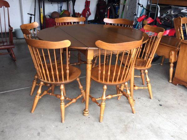 Antique Walter Of Wabash Maple Wood Table Furniture In