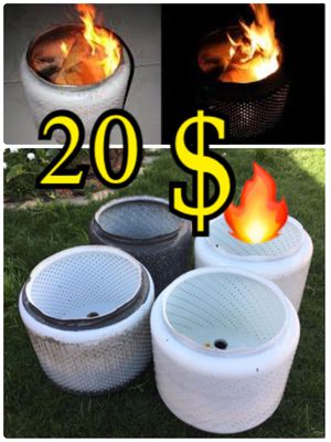 Washer drum fire pit