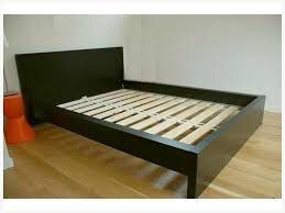 Full size Dark brown ikea malm bed frame plus plush mattress - I CAN DELIVER