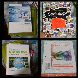 College level textbooks math science sociology English Grammer language
