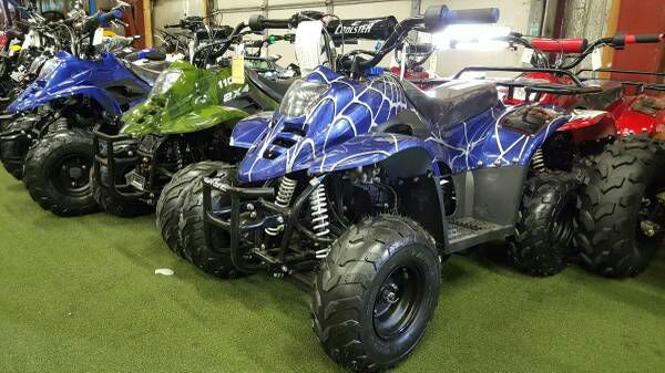 blue 110cc mini kids atv four wheeler quad 50cc youth style sports outdoors in frankfort il. Black Bedroom Furniture Sets. Home Design Ideas