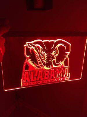 ALABAMA CRIMSON TIDE LOGO LED LIGHT SIGN. BRAND NEW!