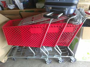 Shopping carts new , asking 150.00 for 3