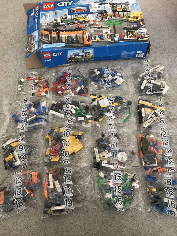 Legos retired set lego city square 60097 1683 pieces. Box damage but ...