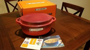 Le Creuset Oval Dutch Oven with Grill Pan Lid (Cerise)