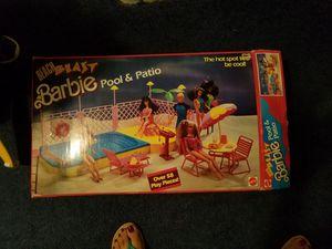 "Juego de Barbie "" beach pool and patio"