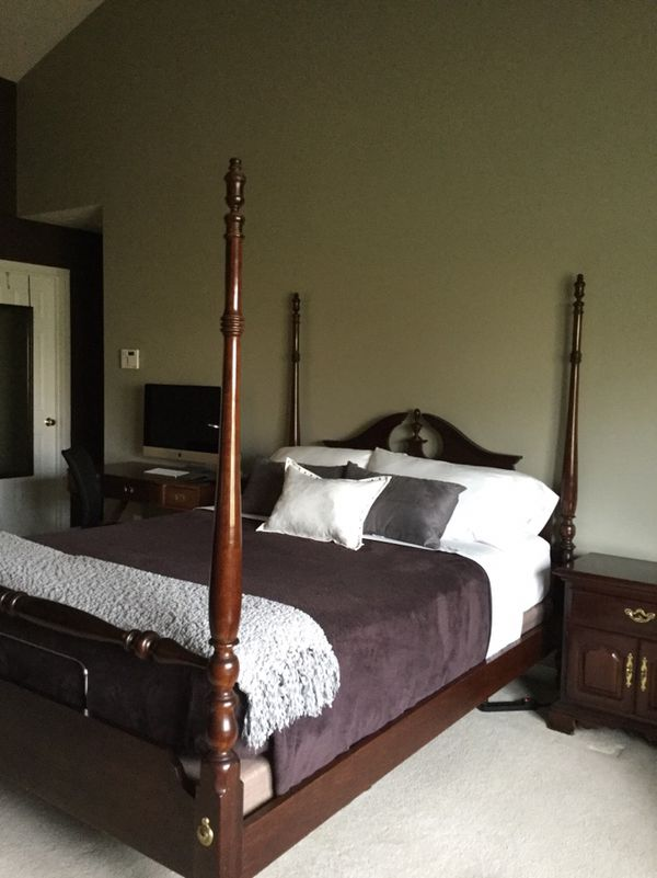 Thomasville 7-piece Cherry 4-poster Queen bedroom set SOLD PENDING ...