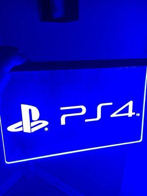 PS4 LOGO LED LIGHT SIGN. BRAND NEW!