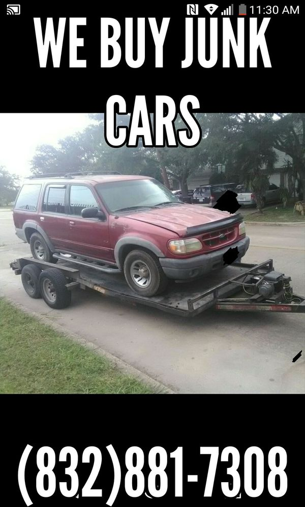 We buy junks trucks vans and any car in any condition...we pay cash ...
