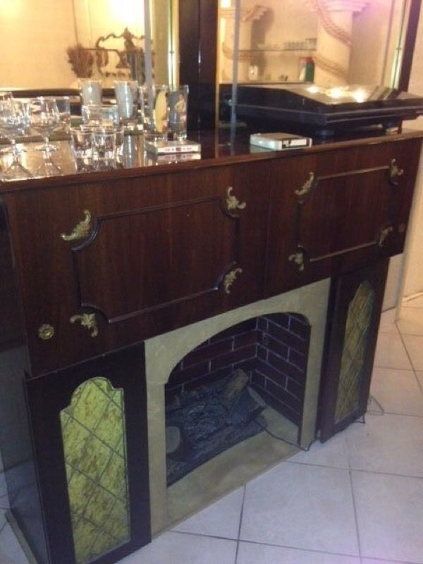 Electric Fireplace vintage electric fireplace : Vintage Antique Koronette Stereo Electric Fireplace with record ...