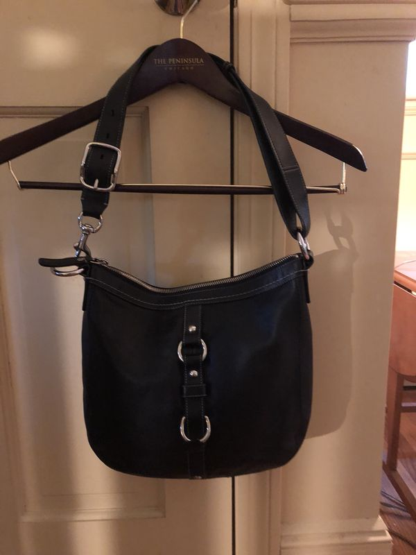 73525063e370 Coach Chelsea Black Leather Convertible Duffle Style Unisex Bag- F14013- EUC  (Jewelry   Accessories) in Merrimack