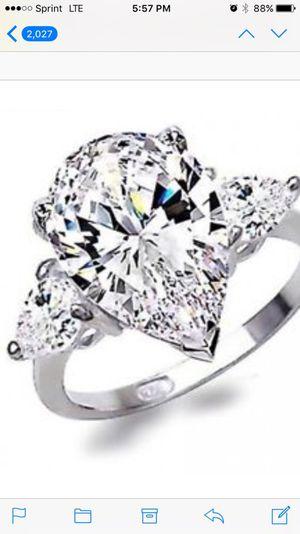925 silver white sapphire