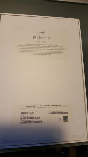 Ipad mini 4 cellular and wifi , 64 gb