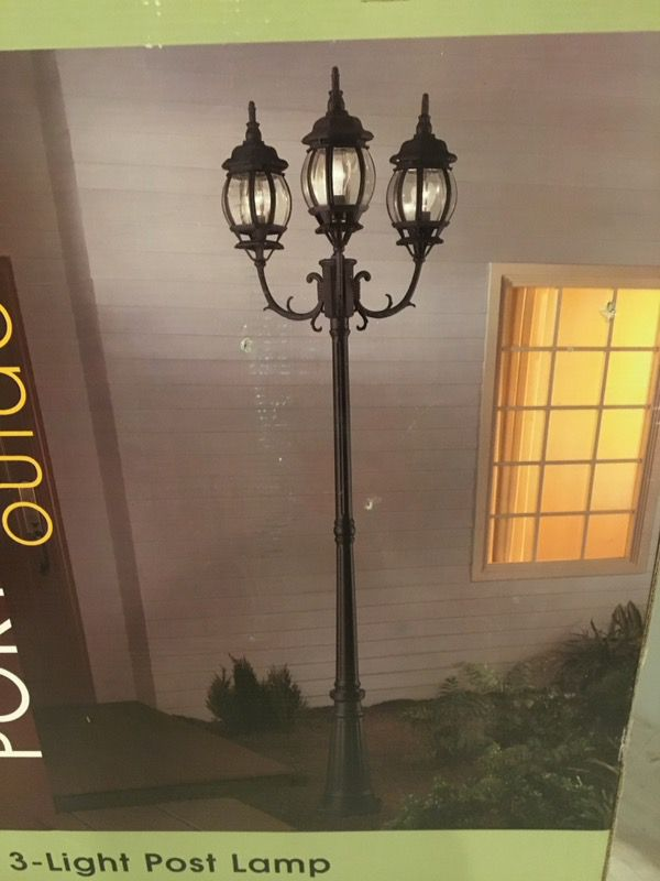 Outdoor 3 Light Lamp Post Portfolio outdoor 3 light lamp post home garden in north portfolio outdoor 3 light lamp post home garden in north tonawanda ny offerup workwithnaturefo