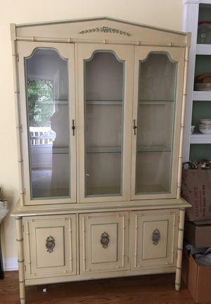 Vintage Lighted Hutch purchased in South Florida