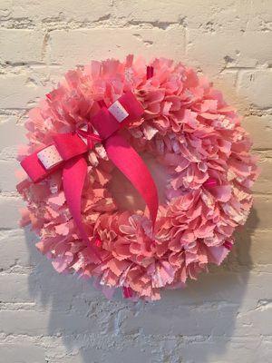 Handmade Breast Cancer Wreath
