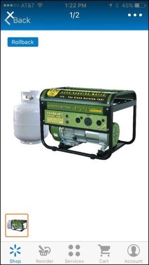 Sportsman 4000 lpg generator