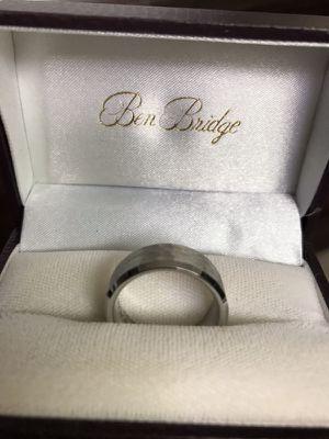 ben bridge artcarved titanium men s wedding band jewelry