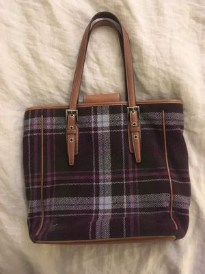 Coach plaid shoulder bag