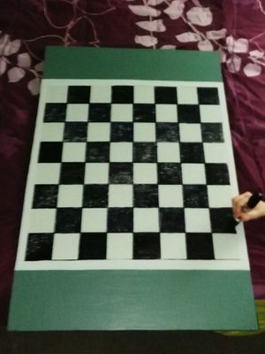 Custom painted checker boards