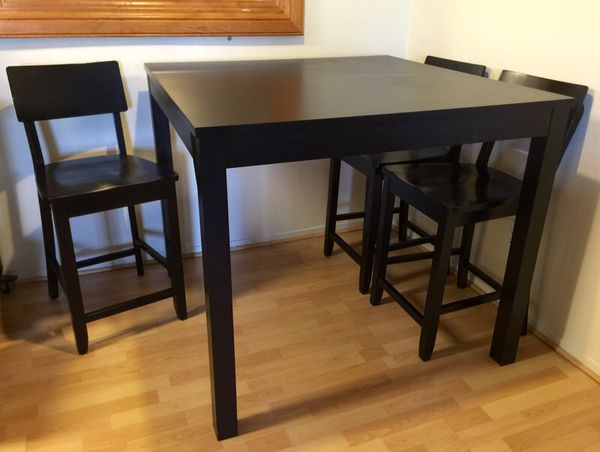 Ikea Bjursta Bar Table 4 Chairs 43 1 4x43 1 4 Square Furniture In San Bruno Ca Offerup