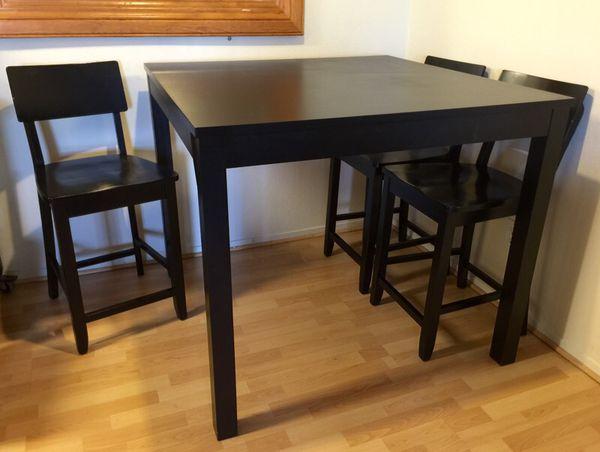 ikea bjursta bar table 4 chairs 43 1 4x43 1 4 square furniture in san bruno ca. Black Bedroom Furniture Sets. Home Design Ideas