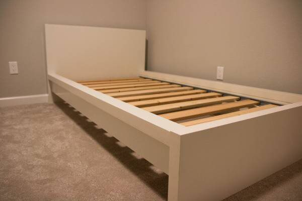 ikea twin white bed frame mattress
