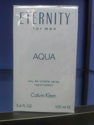 Eternity aqua for men Calvin Klein original NEW in box wrap
