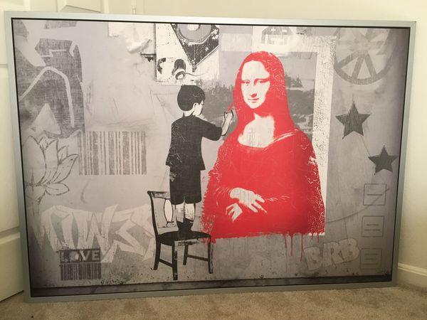 Mona Lisa wall art!