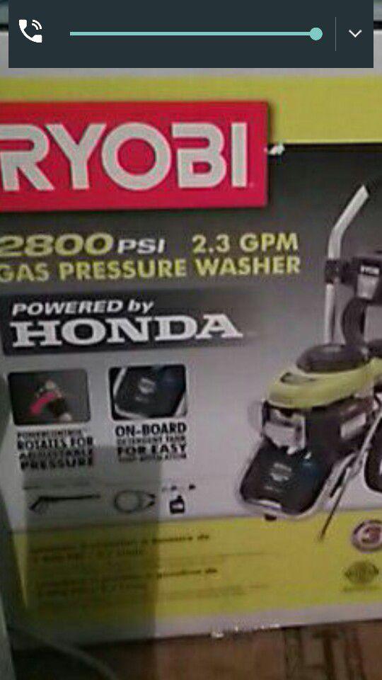 RYOBI 2800 PSI PRESSURE WASHER HONDA ENGINE BRAND NEW INBOX Tools