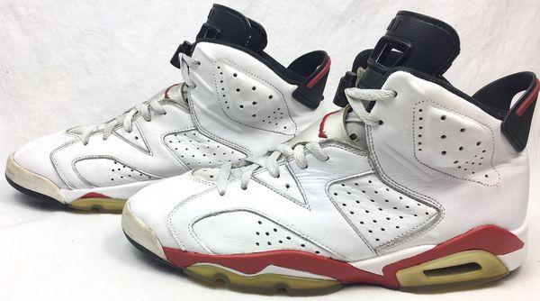 2e125d419c2718 ... air jordan 6 vi retro bulls white varsity red black 2010 release mens  shoes size 11