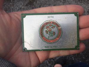 May 3 1957 Shenandoah Apple Blossom festival plaque Winchester VA