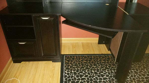 Magellan Espresso Corner Desk With Hutch And File Cabinet Furniture In Arlington Heights Il